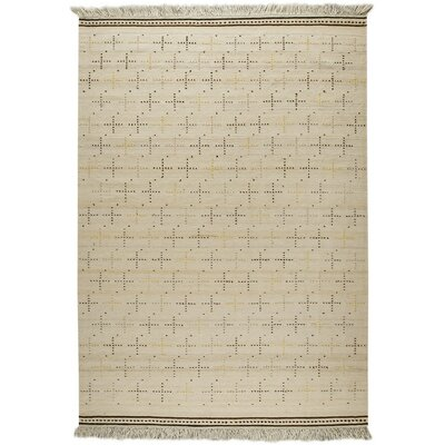 Bergen Hand-Woven White Area Rug Rug Size: 66 x 99