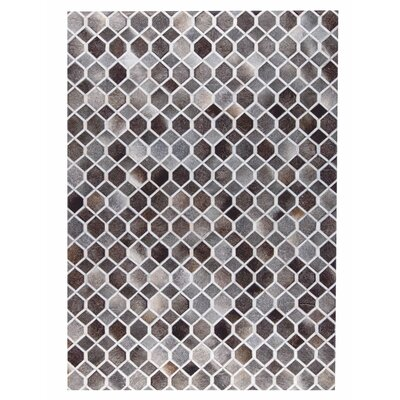 Hydra Hand Woven Gray/White Area Rug Rug Size: 5 x 8