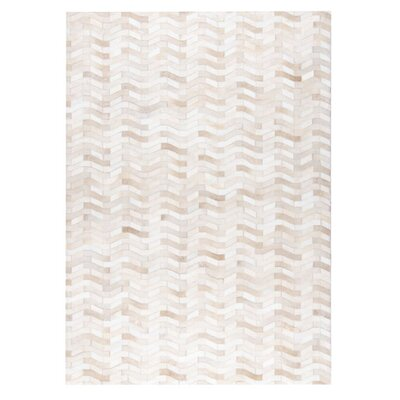 Algedi Hand woven White Area Rug Rug Size: 9 x 12