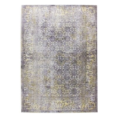 Kashmar Hand-Woven Gray/Gold Area Rug Rug Size: 9 x 12