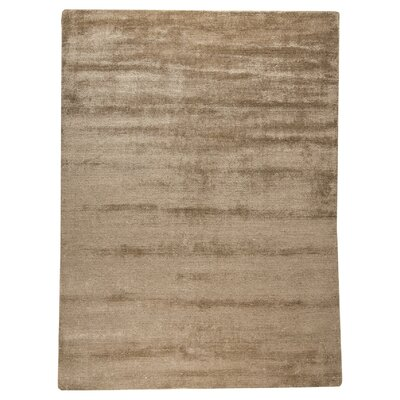 Platinum Hand-Woven Sand Area Rug Rug Size: 56 x 710