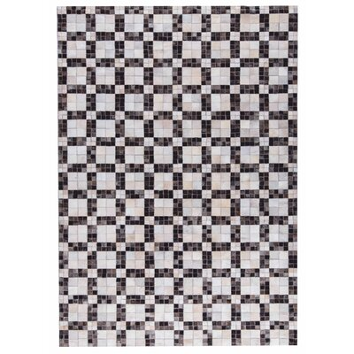 Bricka Hand woven White/Gray Area Rug Rug Size: 9 x 12