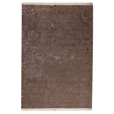 Sateen Brown Area Rug Rug Size: 52 x 76