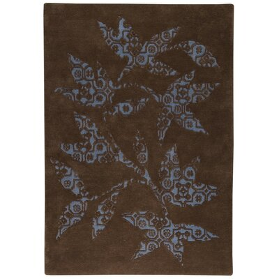 Samarkand Hand-Tufted Brown/Blue Area Rug Rug Size: 83 x 116