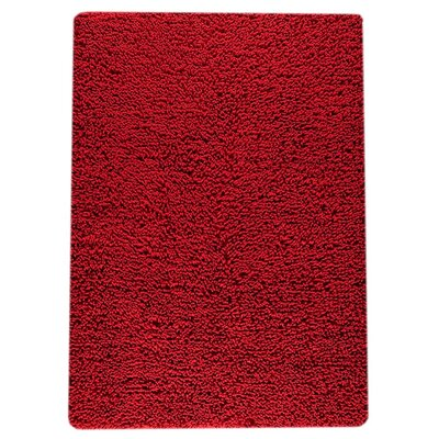 Square Hand-Woven Red Area Rug Rug Size: 83 x 116