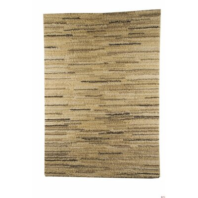Mat Mix Hand-Woven Beige/Brown Area Rug Rug Size: 46 x 66