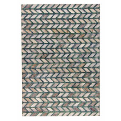 Gamma Hand Woven Gray/Green Area Rug Rug Size: 8 x 10