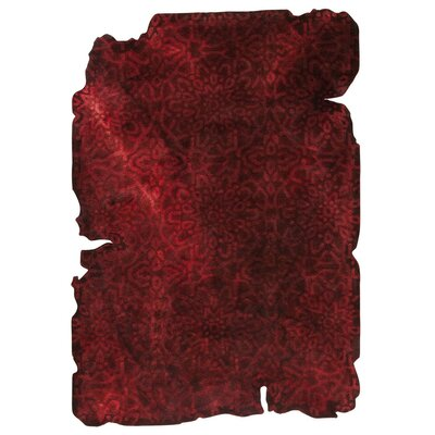 Jalwa 3 Hand-Tufted Dark Red Area Rug