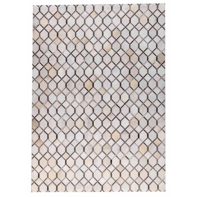 Hydra Hand Woven White/Gray Area Rug Rug Size: 5 x 8