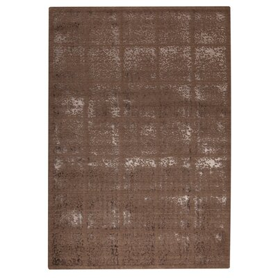 Subtle Squares Brown Area Rug Rug Size: 710 x 910