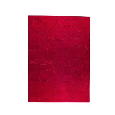 Madrid Hand-Tufted Red Area Rug Rug Size: 83 x 116