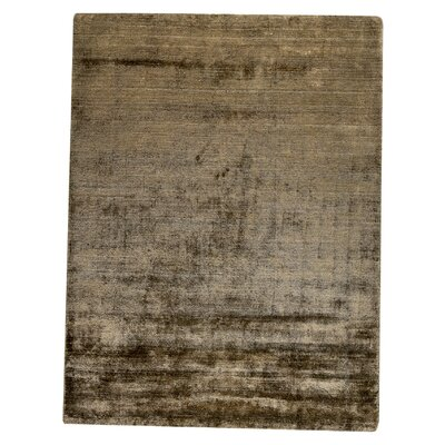 Platinum Hand-Woven Brown Area Rug Rug Size: 66 x 99