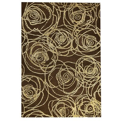 Rosa Hand-Tufted Brown/Beige Area Rug Rug Size: 52 x 76