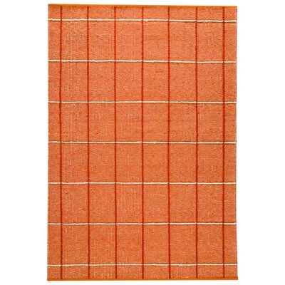 Brooklyn Hand-Woven Orange/White Area Rug Rug Size: 56 x 710
