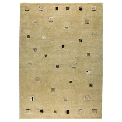 Colombia Hand-Knotted Cafe Latte Area Rug Rug Size: 83 x 116