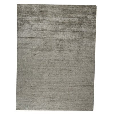 Platinum Hand-Woven Gray Area Rug Rug Size: 66 x 99