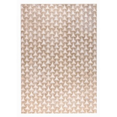 Adhara Hand woven Beige Area Rug Rug Size: 9 x 12