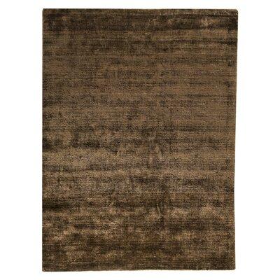 Platinum Hand-Woven Mocha Area Rug Rug Size: 83 x 116