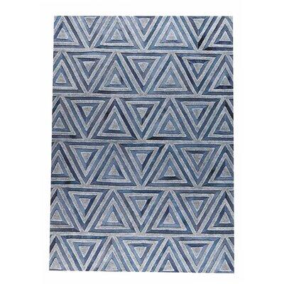 Lyra Handmade Gray/Blue Area Rug Rug Size: 8 x 10