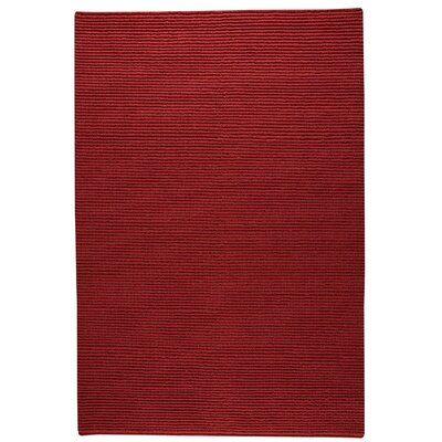 Manchester Hand-Knotted Red Area Rug Rug Size: 56 x 710