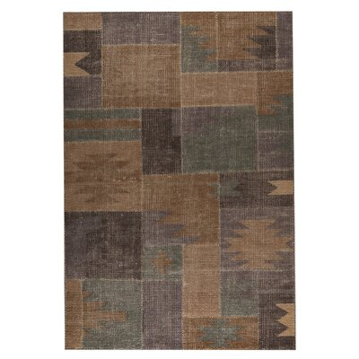 Lina classic Hand-Woven Silver Sage Area Rug Rug Size: 83 x 116