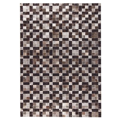 Bricka Hand woven Gray/Black Area Rug Rug Size: 2 x 3