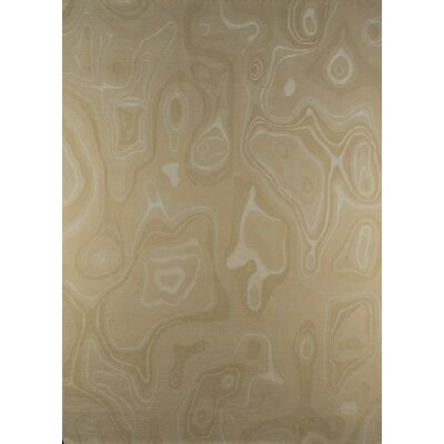 Valley Hand-Knotted White Area Rug Rug Size: 83 x 116