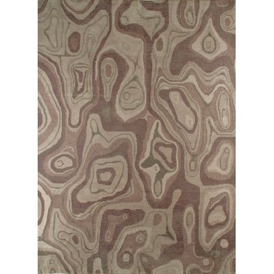 Valley Hand-Knotted Gray/Brown Area Rug Rug Size: 83 x 116
