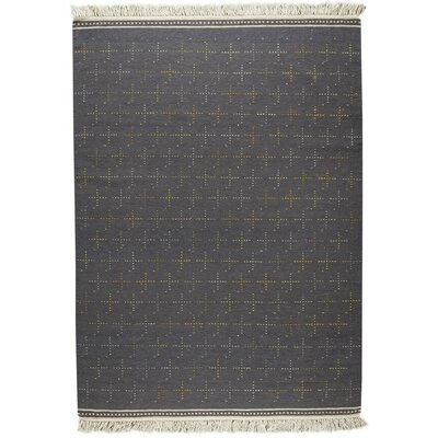 Bergen Hand-Woven Gray Area Rug Rug Size: 9 x 12