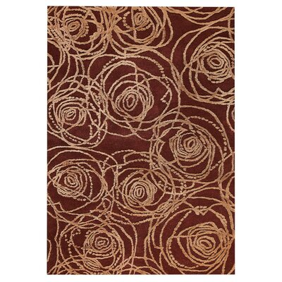Rosa Hand-Tufted Red Area Rug Rug Size: 52 x 76