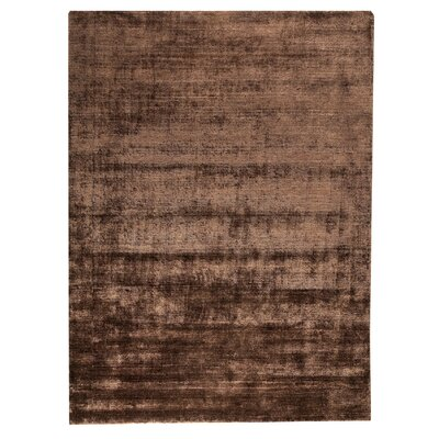 Platinum Hand-Woven Plum Area Rug Rug Size: 83 x 116