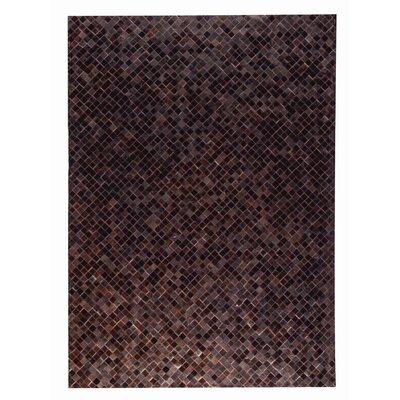 Chess Hand woven Black/Brown Area Rug Rug Size: 5 x 8