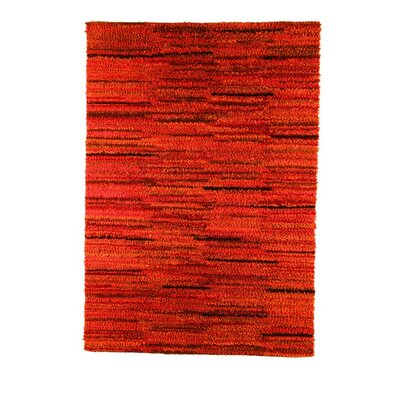 Mat Mix Hand-Woven Rust Area Rug Rug Size: 83 x 116