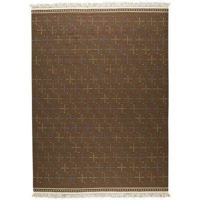 Bergen Hand-Woven Brown Area Rug Rug Size: 9 x 12
