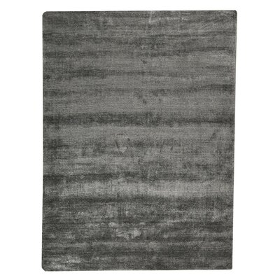 Platinum Hand-Woven Dark Gray Area Rug Rug Size: 83 x 116
