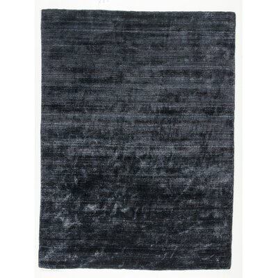Platinum Hand-Woven Charcoal Area Rug Rug Size: 66 x 99
