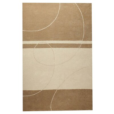 Trenza Hand-Tufted Beige Area Rug Rug Size: 5 x 7