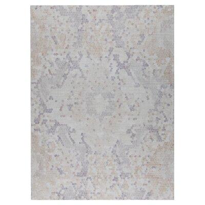 Omaha Hand-Woven Beige/Gray Area Rug Rug Size: 5 x 8