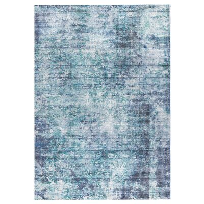 Akron Hand-Woven Blue Area Rug Rug Size: 5' x 8'