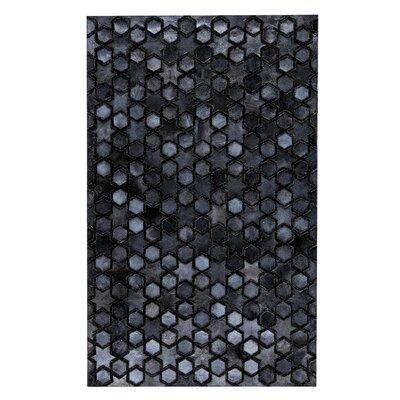 Nihal Handmade Navy Area Rug Rug Size: 5 x 8