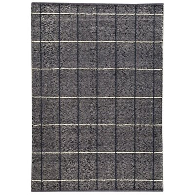 Brooklyn Hand-Woven Charcoal Area Rug Rug Size: 66 x 99