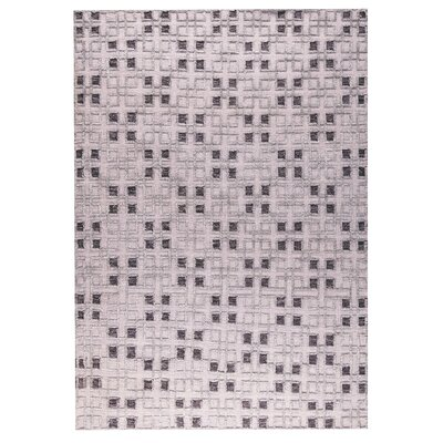 Pomona Hand-Woven Gray Area Rug Rug Size: 5 x 8