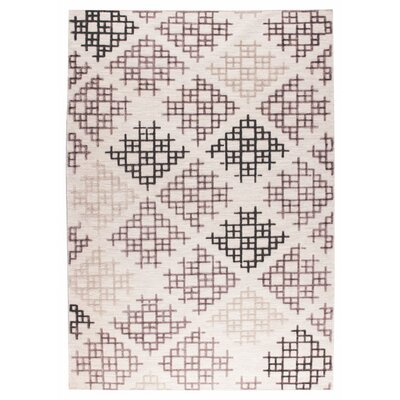 Lowell Hand-Woven Gray/Beige Area Rug Rug Size: 4 x 6