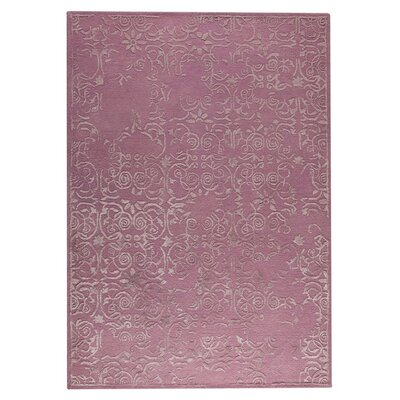 Illusion Hand-Tufted Pink Area Rug Rug Size: 56 x 710