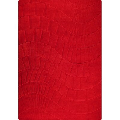 Terraza Hand-Tufted Scarlet Area Rug Rug Size: 56 x 710