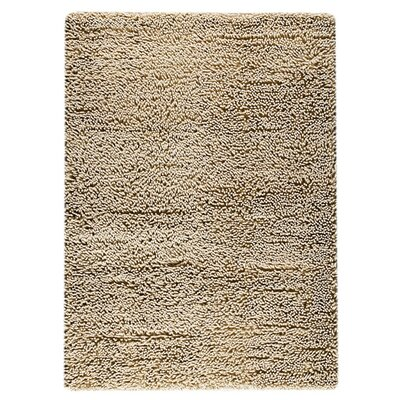 Square Hand-Woven Beige Area Rug Rug Size: Rectangle 46 x 66