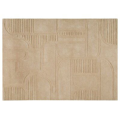 Orlando Hand-Tufted Sand Area Rug Rug Size: 56 x 710