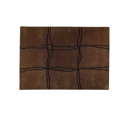 Amsterdam Hand-Tufted Brown Area Rug Rug Size: 56 x 710