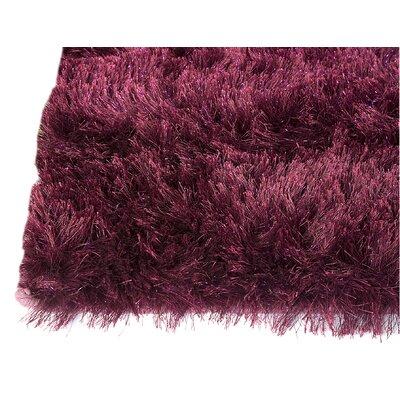 Sunshine Hand-Woven Purple Area Rug Rug Size: 5 x 8