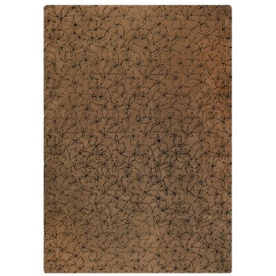 Madeira Hand-Tufted Brown/Black Area Rug Rug Size: 83 x 116